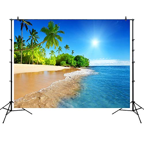 Beach Backdrops for Photography 7x5ft Party Accessory Caribbean Sea and Palms Vinyl Photography Background Studio Props Summer Wedding Decorations