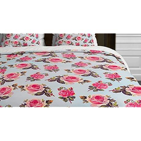 Deny Designs Allyson Johnson Pink Roses Duvet Cover King
