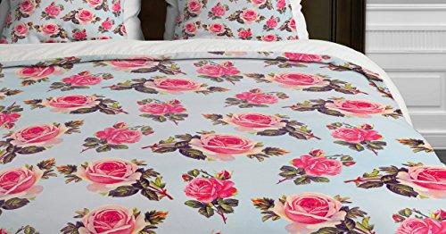 Deny Designs Allyson Johnson Pink Roses Duvet Cover, Twin