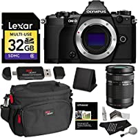 Olympus OM-D E-M5 Mark II (Black) Camera V207040BU000 + Olympus M. 40-150mm F4.0-5.6 R Zoom Lens for Olympus and Panasonic Micro 4/3 Cameras V315030BU000 + Lexar 32GB + Ritz Gear Kit Accessory Bundle At A Glance Review Image