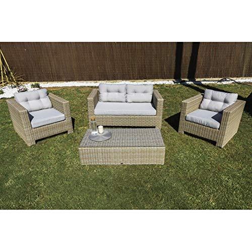 Kiefergarden Fiji Conjunto de jardín -Sofá Doble, Dos sillones y ...