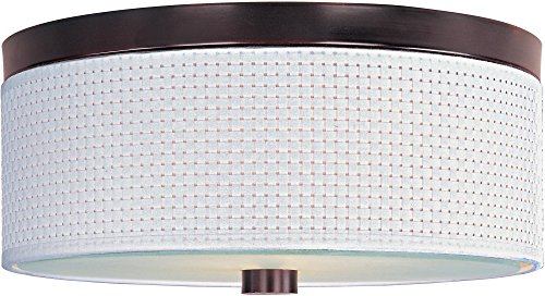 ET2 E95102-100OI Elements 3-Light Flush Mount, Oil Rubbed Bronze Finish, Glass, GU24 Fluorescent Bulb, 5W Max., Wet Safety Rated, 3000K Color Temp., Shade Material, 1050 Rated - Elements Oil 100oi