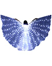 beetleNew Mujer Ropa Alas de luz LED Capa Luces de LED Alas Danza del Vientre Mariposa Accesorios de Baile Alas de Color alas Fluorescentes Alas de Baile
