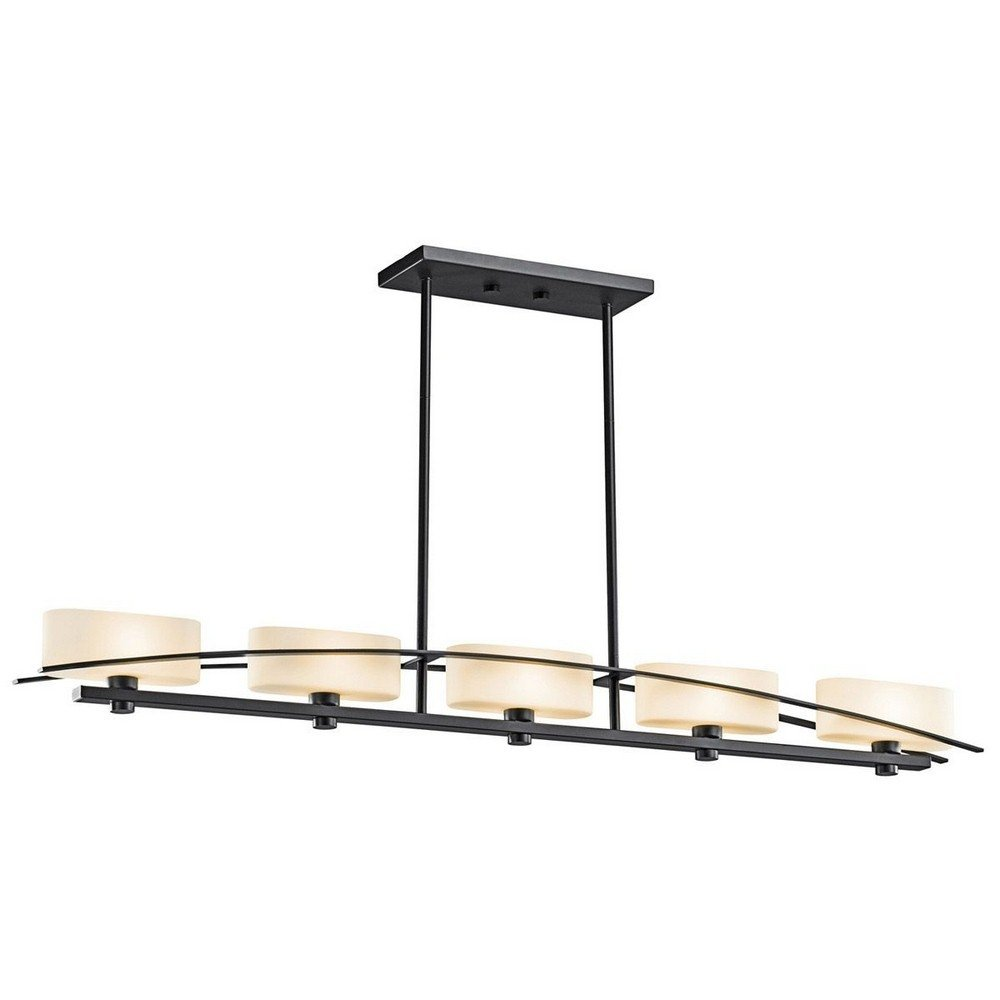 Kichler 42018BK Five Light Linear Chandelier