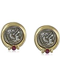 Roman Coin Clip-On Earrings
