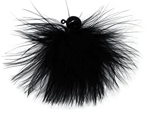 Eagle Claw Marabou Jig, Black, 1/8-Ounce