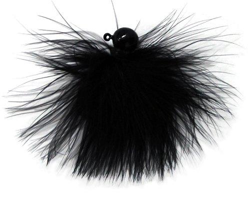 Eagle Claw Marabou Jig, Black, 1/8-Ounce