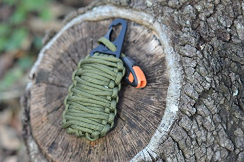 Emergency Survival Pod Kit with 20 Accessories wrapped in 550lb Paracord Survival Grenade For Emergencies (Glock 22 Conversion Kit)