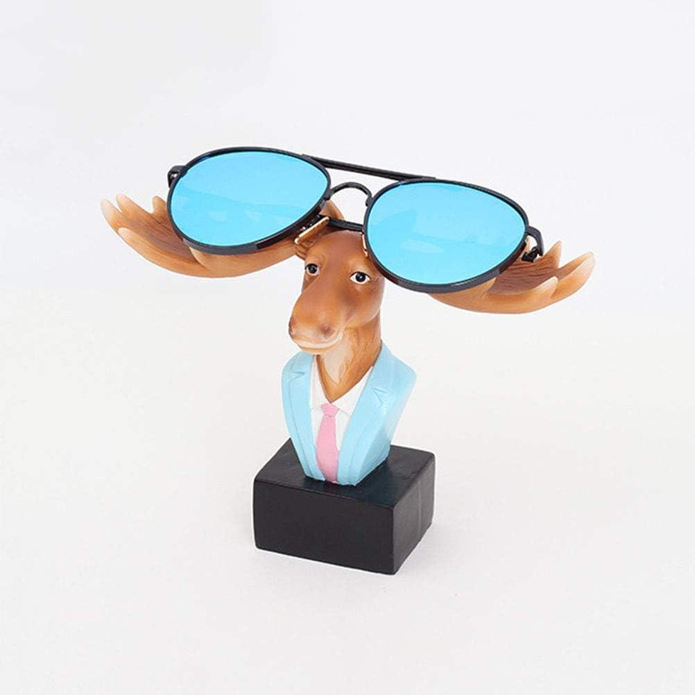 Vosarea Spectacle Holder Eyeglass Stand Resin Crafts Sunglasses Rack Display Home Decoration