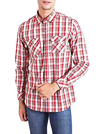 Chokore Regular Fit Cotton Multi Color Checked Shirt(L)