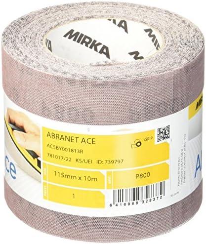 Mirka AC5BY001813R Abranet ACE x 10 M Roll Grip P800, 115 MM