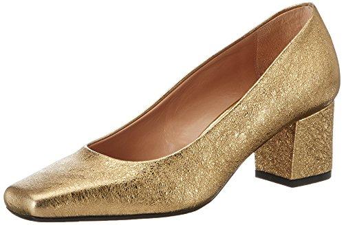 Oxitaly Adele 200, Scarpe col Tacco Punta Chiusa Donna Oro (Oro Oro)