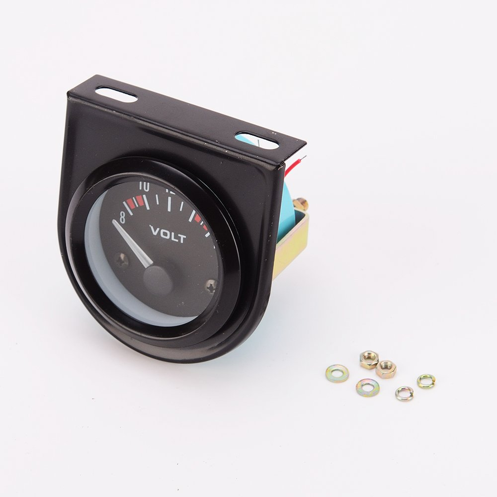 Universal del Coche 8-16V Medidor de 52mm de Calibre Voltios Volt/ímetro Negro