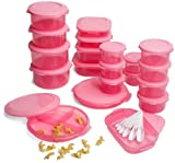Superseal 48 Piece Food Saver Set, Pretty Pink
