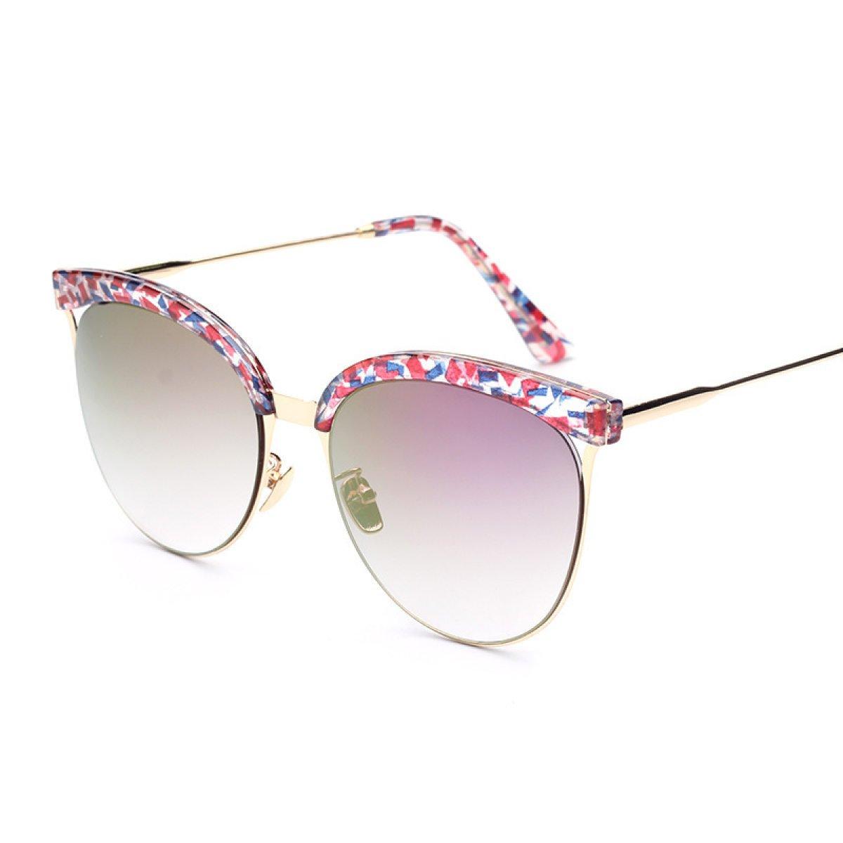 Gezeiten-Sonnenbrille Yurt Dame Dazzling Farbe Sonnenbrille-Sonnenbrille,A4