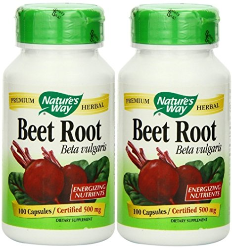 Nature's Way Beet Root Powder Capsules 500 Mg, 100-count (2 pck)