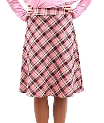 Romeo 4 Ever High Waisted A-Line Plaid Midi Skirt