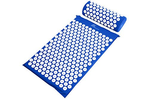 ProSource Acupressure Mat and Pillow Set for Back/Neck Pain Relief and Muscle (Shoulder Stand Foam)