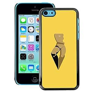 Snap-on Series Teléfono Carcasa Funda Case Caso para iPhone 5C , ( Space Woman )
