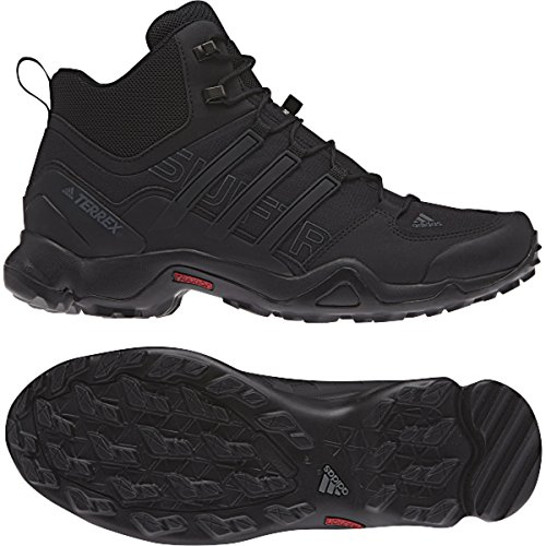 adidas outdoor Terrex Swift R Mid Hiking Boot - Men's Black/Black/Dark Grey, 10.0