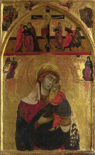 High Quality Polyster Canvas ,the High Quality Art Decorative Prints On Canvas Of Oil Painting 'Rinaldo Da Siena - The Virgin And Child,about 1265-8', 8x13 Inch / 20x33 Cm Is Best For Home Theater Gallery Art And Home Decor And Gifts