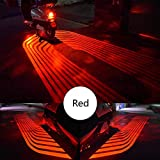 Niome 2Pcs Motorcycle Light Side Welcome Lamp LED Courtesy Shadow Projector Angel Wings Red