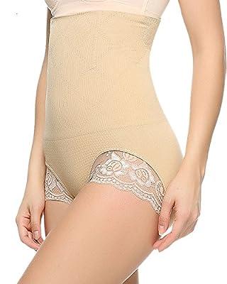 Junlan Antibacterial Comfort Panties Butt Lifter Shapers Hi-Waist Thigh Slimming
