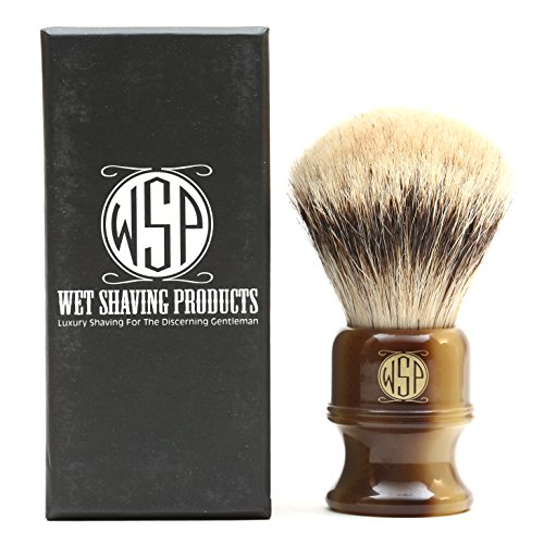 "Shaving Brush High Mountain White Silvertip Badger Large (26mm) Extra Dense WSP ''Stubby"" by Wet Shaving Products"