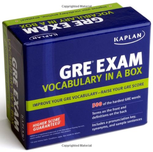 Kaplan GRE Vocabulary Exam in a Box