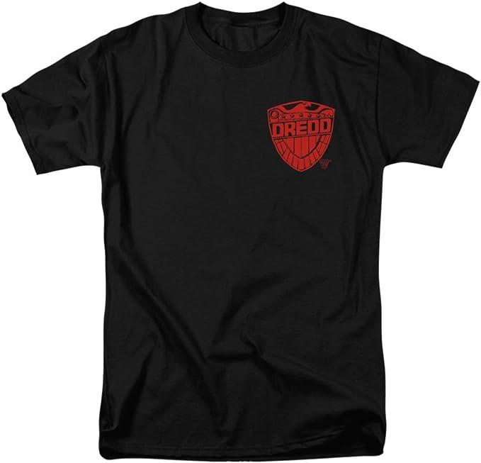 Juez Dredd Badge Mens Camisa Manga Corta Negra (XXX-Grande)