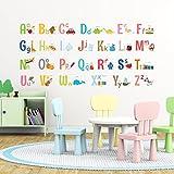 Decowall DA-1701 Alphabet peel & stick Nursery wall decals stickers