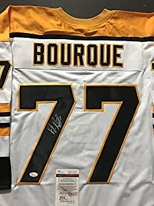 Autographed/Signed Ray Bourque Boston Bruins White Hockey Jersey JSA COA