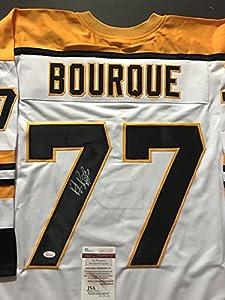 Autographed/Signed Ray Bourque Boston Bruins White Hockey Jersey JSA COA