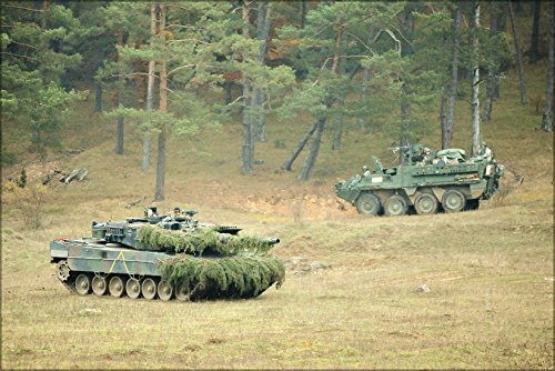 24x36 Poster . German Army Leopard 2 Tank Saber Junction 2012