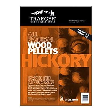 Traeger PEL304 Hickory Barbeque Pellets, 20-Pound