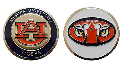 "(Collectible Challenge Coin- Logo Poker - Lucky Chip for Auburn University ""Tigers"")"