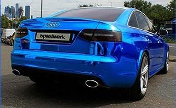 Stretchable cromo blu per applicazione 3d car wrapping, Pellicola a Specchio, cromato Schermo speedwerk-motorwear