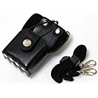 Hard Leather Holster for Handheld Radio Motorola GP338 plus GP328 plus GP344 Baofeng Quansheng TYT