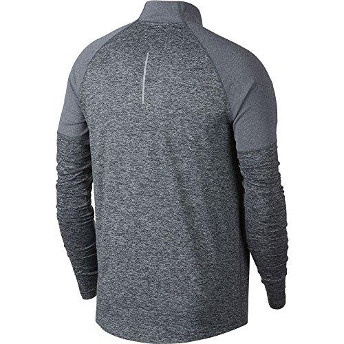 Nike Men's 2.0 Element 1/2 Zip Running Top (Dark Grey/Heather, Small) by Nike (Image #2)
