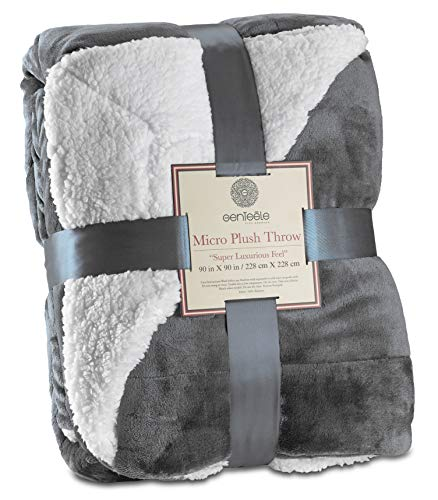 Genteele Sherpa Throw Blanket Super Soft Reversible Ultra...