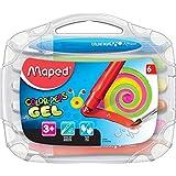 Giz Gel Aquarelável Color Peps Macio Maleta 6 Cores, Maped 24, Multicor
