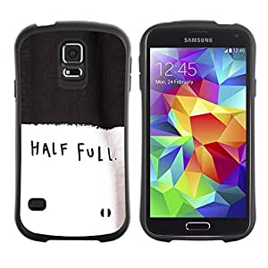 "Hypernova Slim Fit Dual Barniz Protector Caso Case Funda Para Samsung Galaxy S5 [Media Full Text motivación Negro Blanco""]"