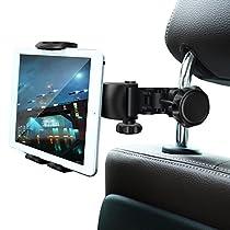 タブレットホルダー Ansteker ヘッドレスト ホルダー 自動車後部座席用 調節可能 360度回転式 工具...