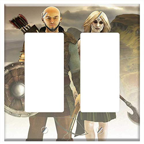Switch Plate Double Rocker/GFCI - Fantasy Fantasy Characters Vikings Male And Female