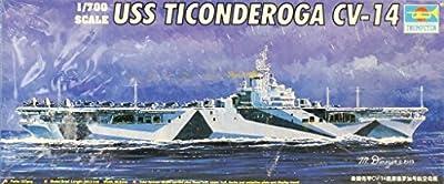 Trumpeter 1:700 USS Ticonderoga CV-14 Aircraft Carrier Plastic Model Kit #05736