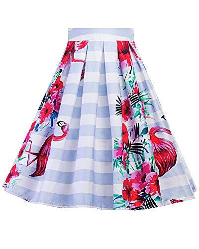 Patineuse Vintage A Floral As Jupe Femme Rtro Jupe Line Jupe Style Imprime Picture Plisss 14 pqISz0