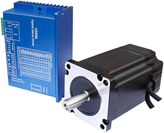 Nema34 L-116mm Loop Servo Motor 6A Loop 8N.m y HSS86 8A Hybrid Stepper Servo Driver CNC Controller Kit: Amazon.es: Bricolaje y herramientas