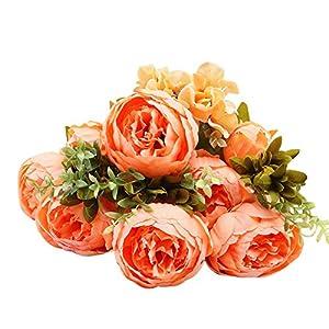 Gotian 1 Bouquet Vintage Artificial Peony Silk Flowers Bouquet for Wedding Party Home Decor 2