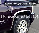 2007 2008 2009 2010 2011 2012 Chevy Silverado Chrome Stainless Steel Fender Trims (4 Pieces Set)