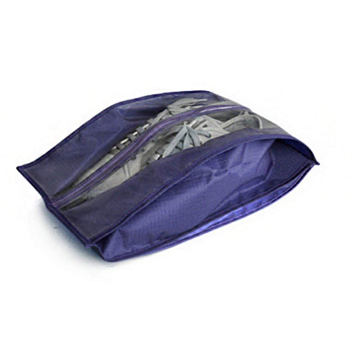 Blu Scuro Lesiey Borse Pieghevoli per Scarpe in Poliestere Borse da Donna Borse Antipolvere per Scarpe Borse per Porta da Viaggio Borse per la conservazione